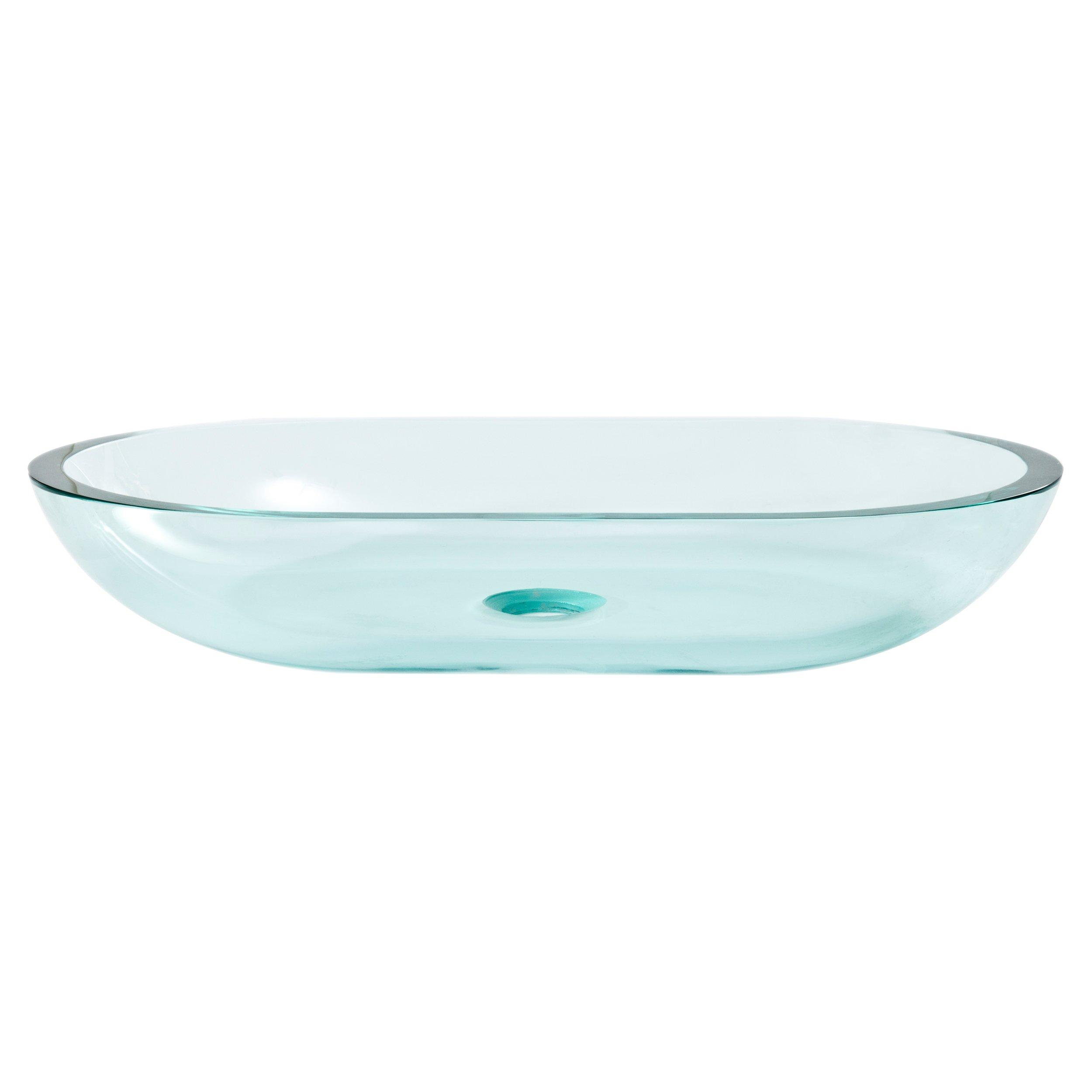 Square Basin Glass Vessel Sink