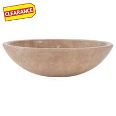 Clearance! Noce Oval Travertine Sink