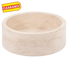 Clearance! Ivory Round Travertine Sink
