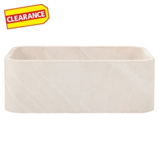 Clearance! Perla Beige Marble Farmhouse Sink