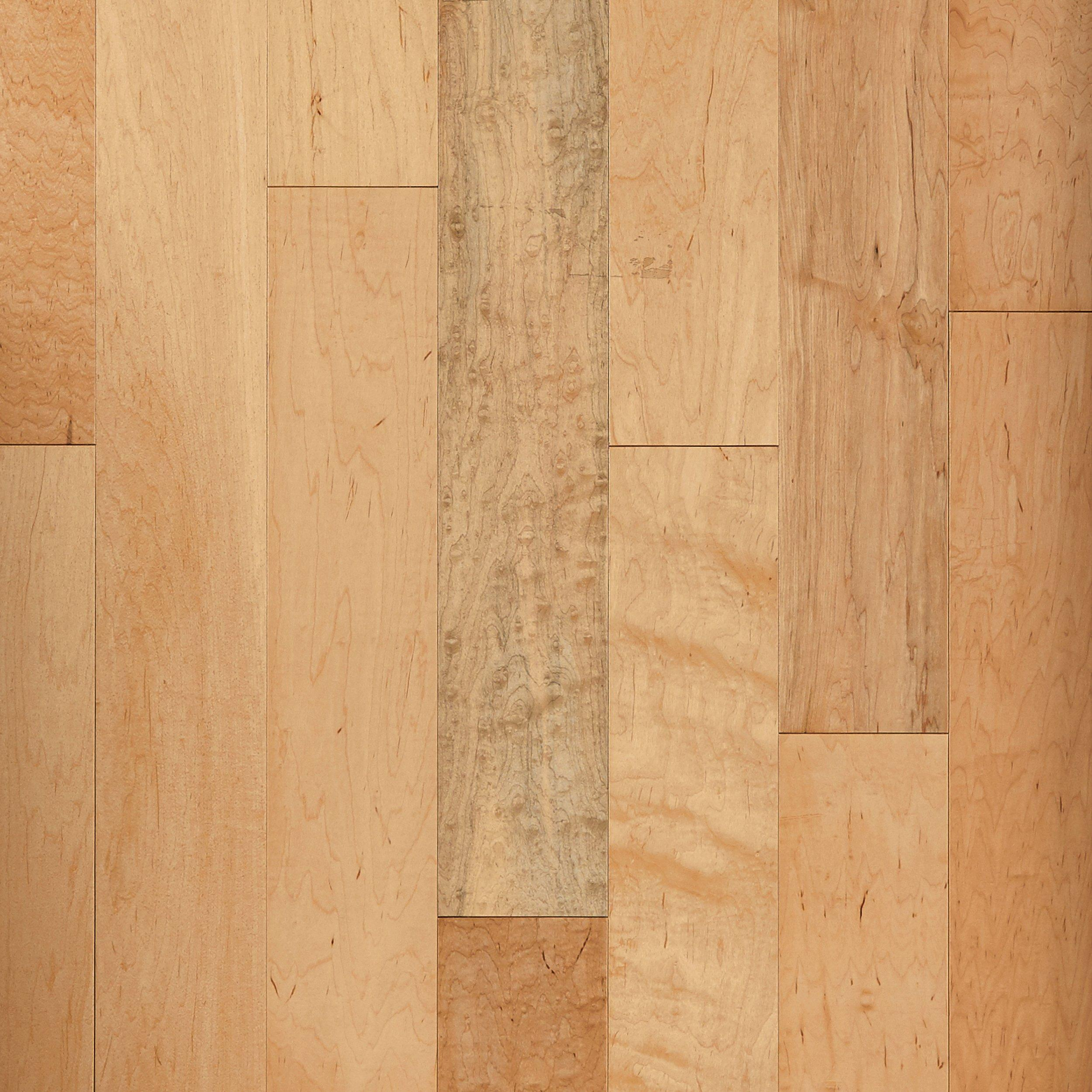 Natural Maple Smooth Locking Engineered Hardwood   3/8in. X 5in.    941200101   Floor And Decor