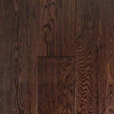Dark Brown Oak Hand Scraped Engineered Hardwood