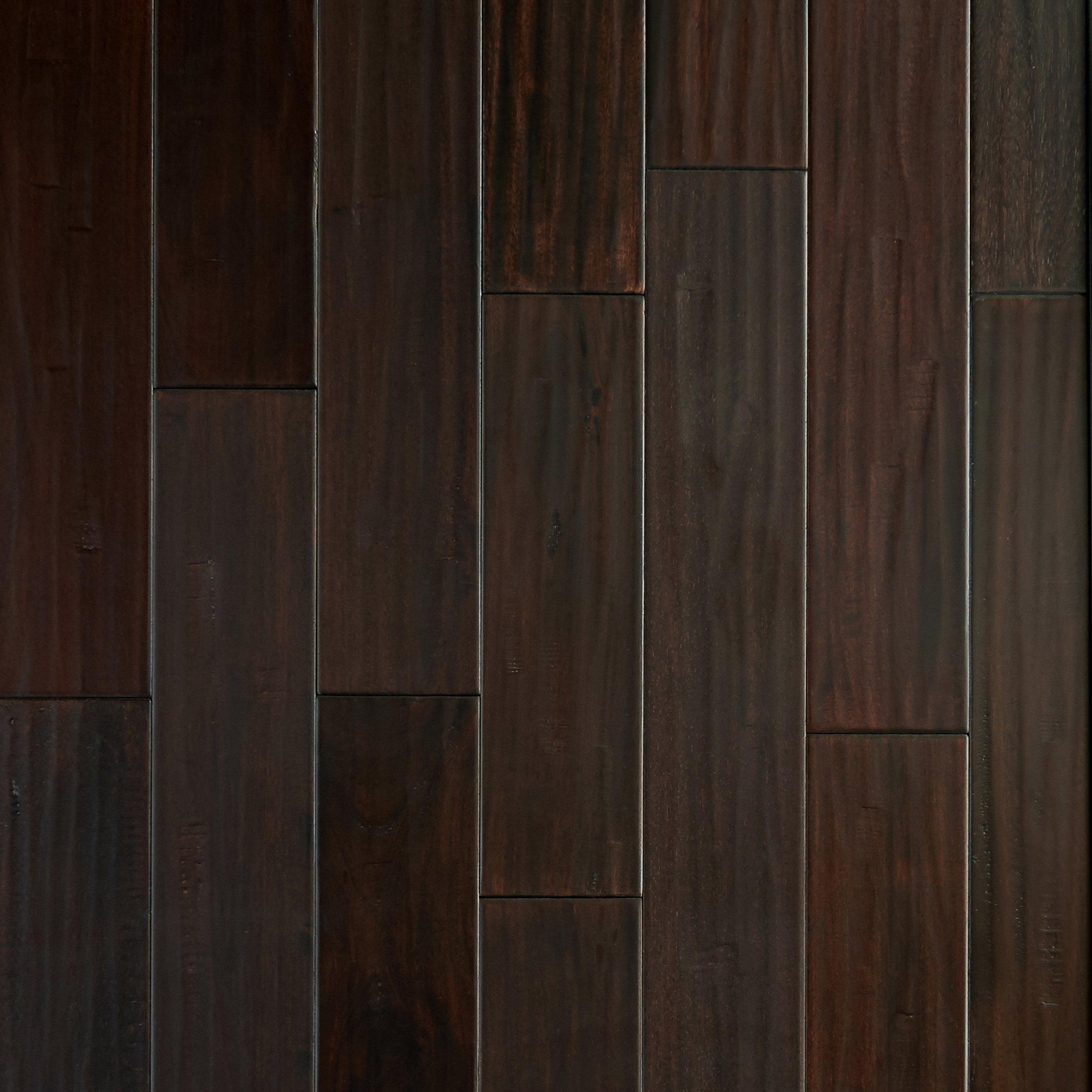 Mahogany Dark Hand Scraped Solid Hardwood   5/8in. X 4 3/4in.   942604157    Floor And Decor