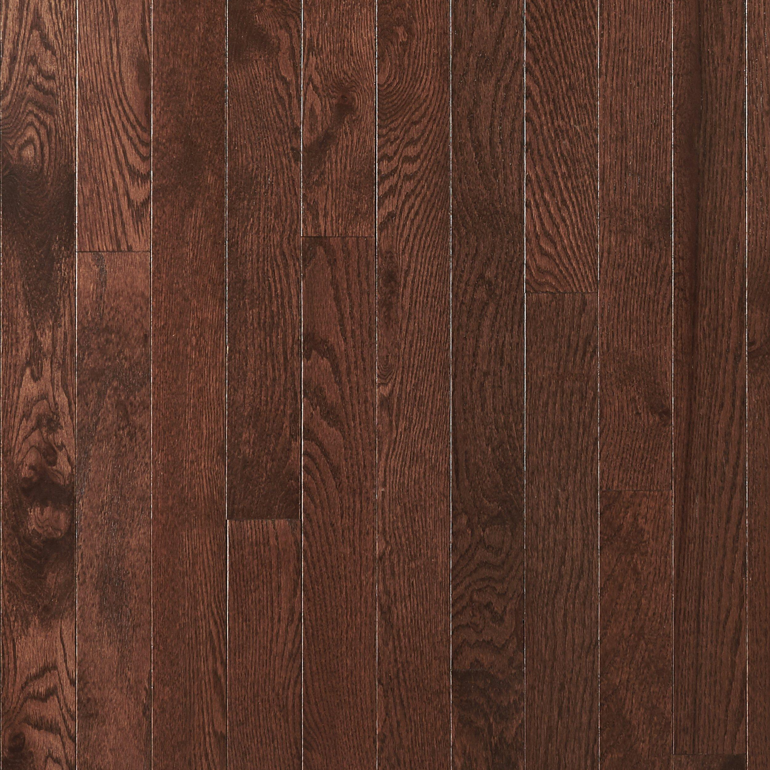 dark mocha oak smooth solid hardwood 34in x 3in floor and decor