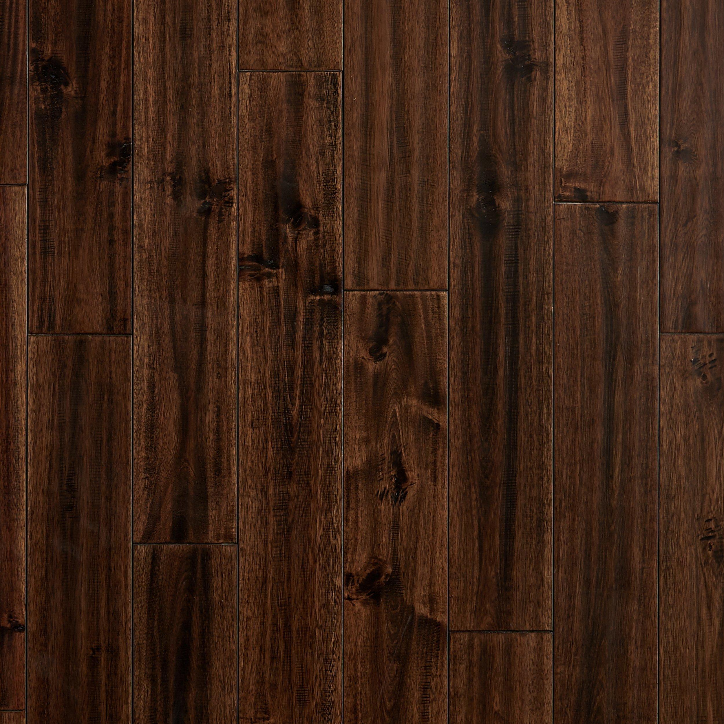 Acacia Ipe Hand Scraped Solid Hardwood   3/4in. X 4 3/4in.   942800465 |  Floor And Decor