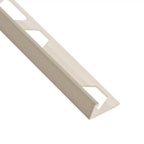 Schluter-Jolly Edge Trim 3/8in  in PVC with a Classic Gray Finish