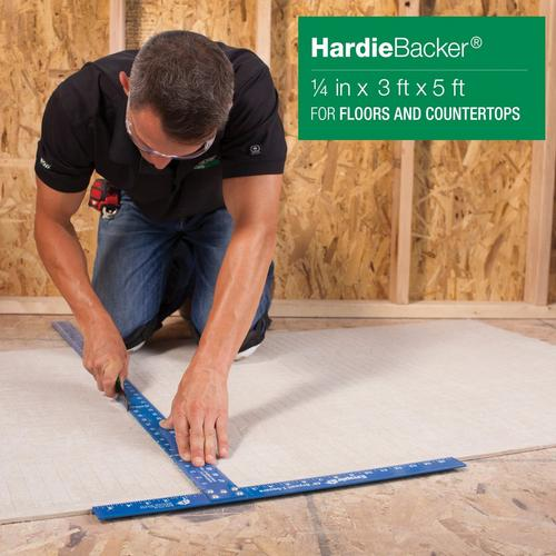 Hardiebacker Backer Board 1 4in 1 4in X 3ft X 5ft