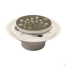 PlumBest PVC Shower Floor Drain with Stainless Steel Strainer