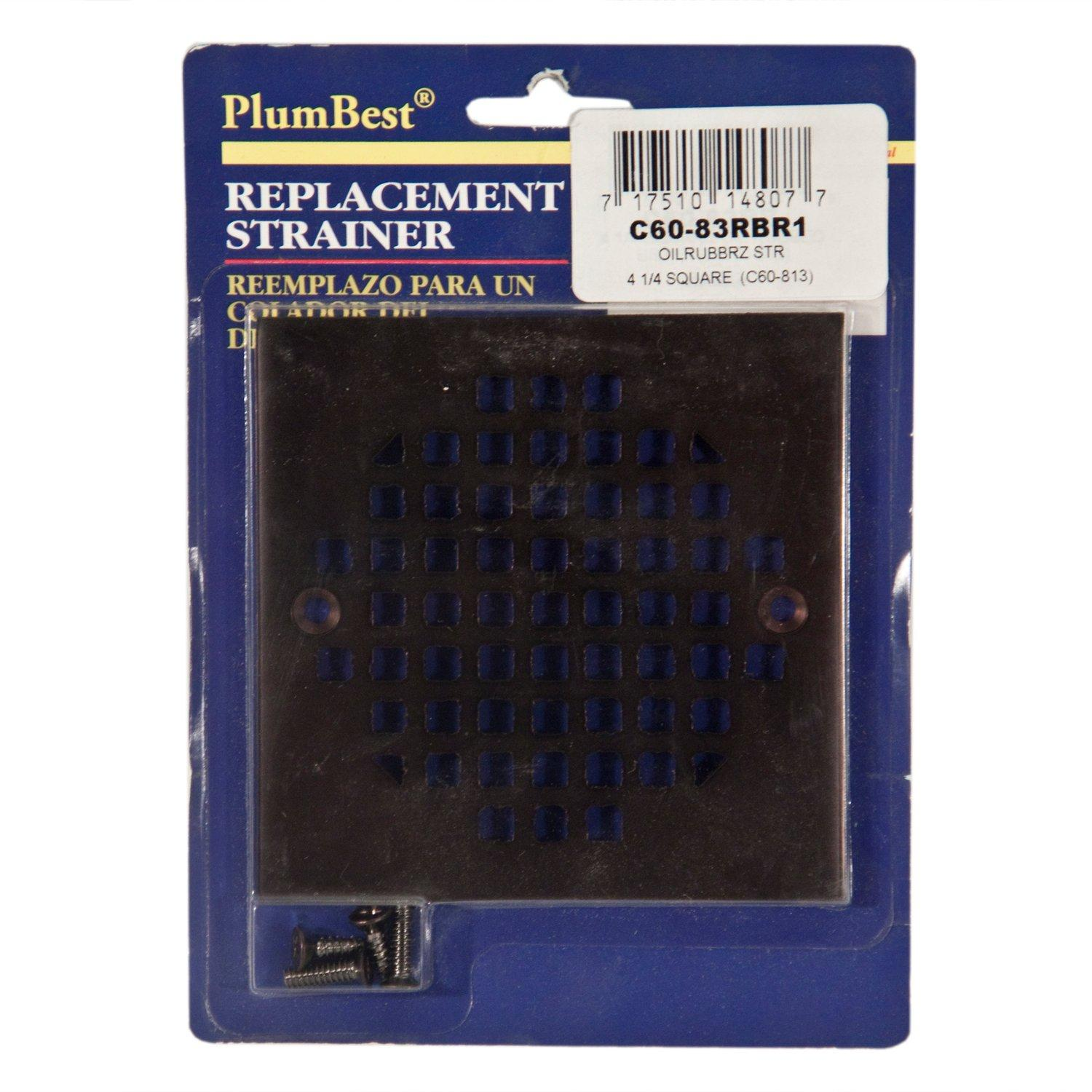 plumbest oil rubbed square bronze shower drain cover 4 14in floor and decor