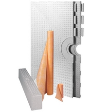 Schluter-Kerdi-Shower-Kit Base with Off-Centre Outlet Placement