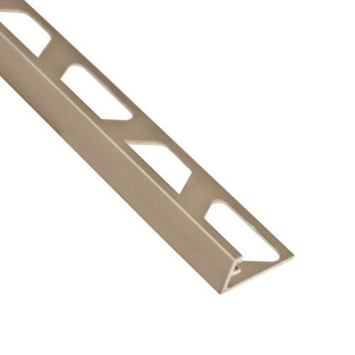 Schluter-Jolly Edge Trim 3/8in  in Satin Nickel Anodized Aluminum