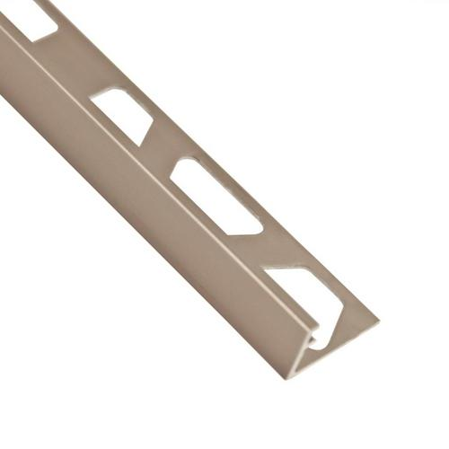 Schluter-Jolly Edge Trim 1/2in  in Satin Nickel Anodized