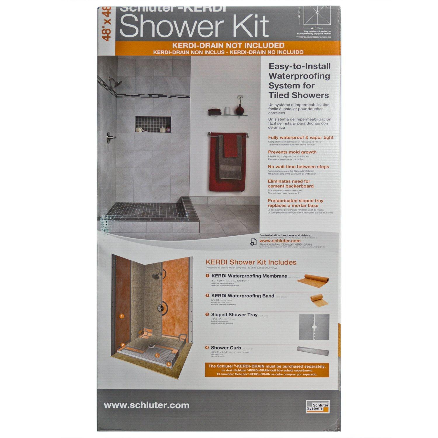 Schluter Kerdi Shower Kit Base   48in. X 48in.   951500214 | Floor And Decor