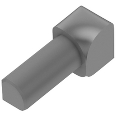 Schluter RONDEC Gray 3/8in. Coated PVC 90 Degree Inside Corner