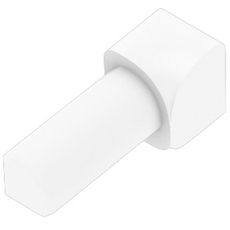 Schluter RONDEC Bright White 1/4in. Coated PVC 90 Degree Inside Corner