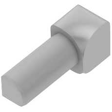 Schluter RONDEC Light Gray 3/8in. Coated PVC 90 Degree Inside Corner