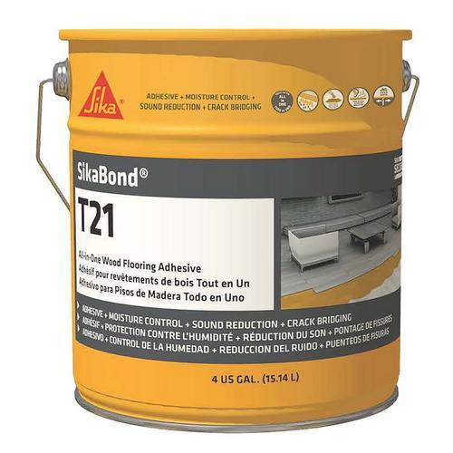 Sika Sikabond T21 Polyurethane Adhesive For Wood Floors 4gal