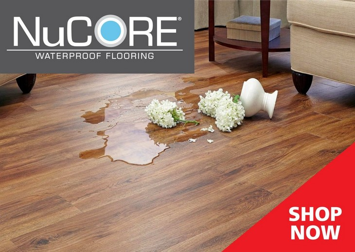 NuCore Waterproof Flooring Floor Decor - Flooring that looks like wood but is not