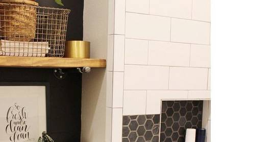 Trend Alert! Bathrooms with Black & White Hexagons