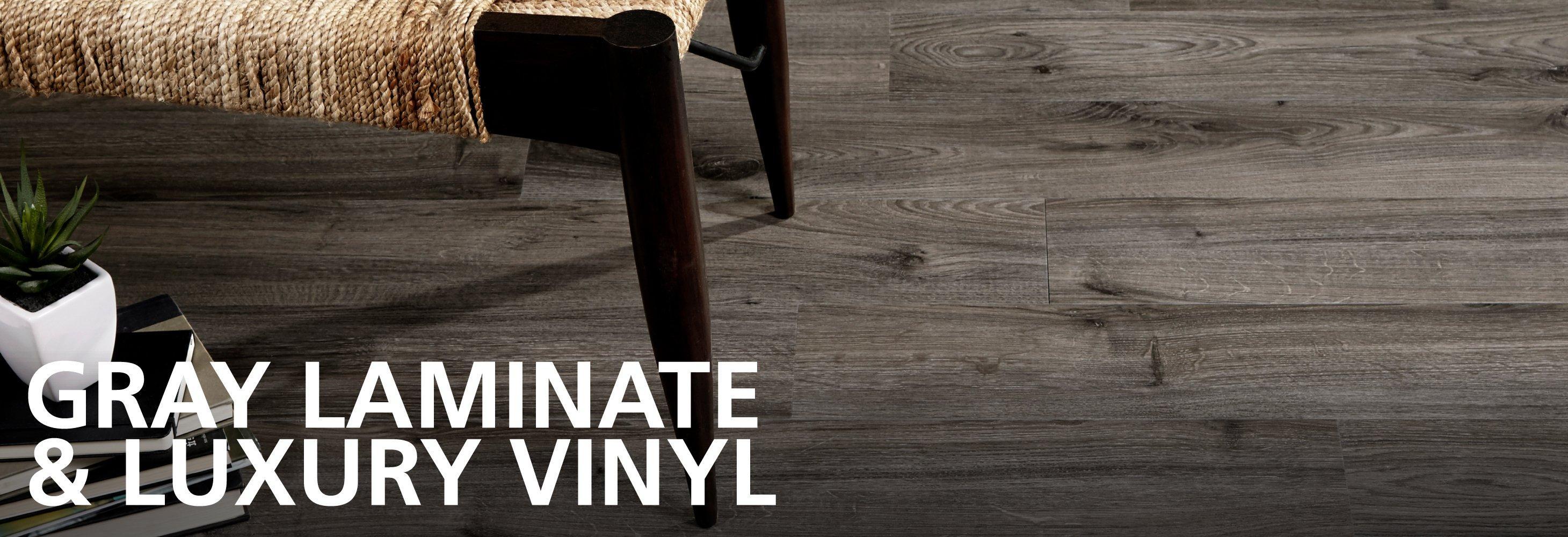 gray laminate and vinyl flooring