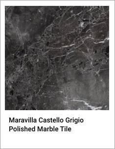 Maravilla Castello Grigio Polished Marble Tile