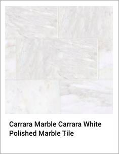 Carrara Marble Carrara White Polished Marble Tile
