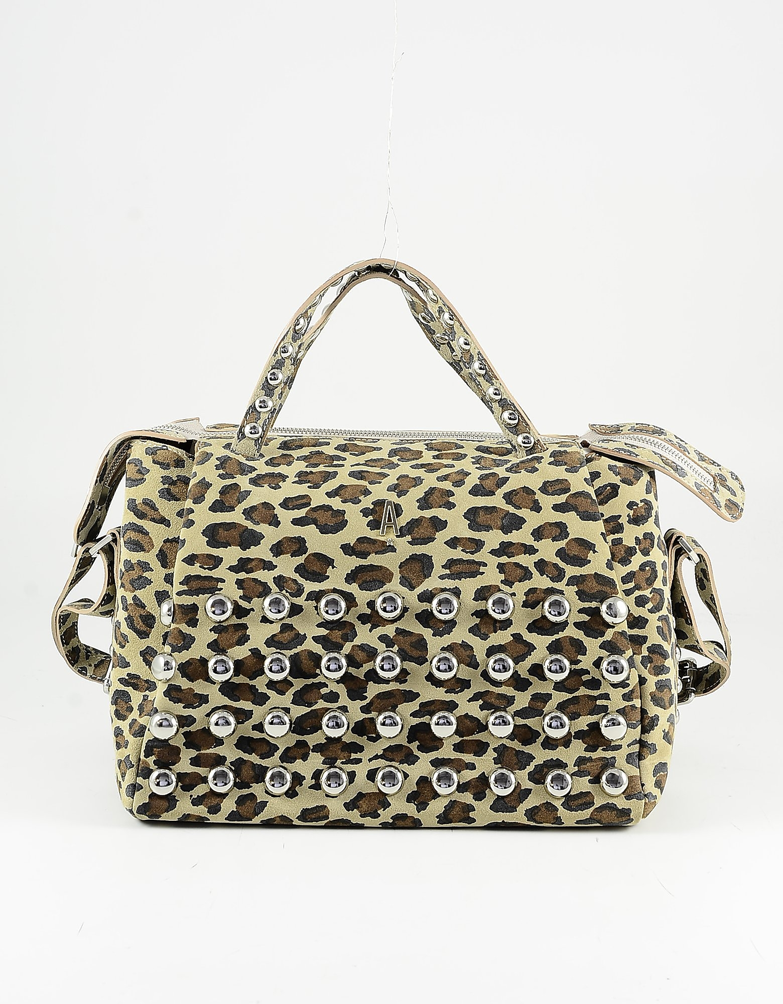 Aniye By Animal Print Leather Satchel Bag In Brown