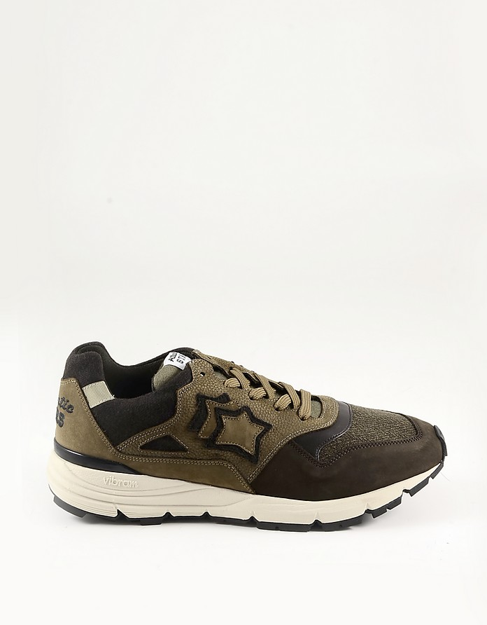 Brown Suede and Nylon Men's Sneakers - Atlantic Stars