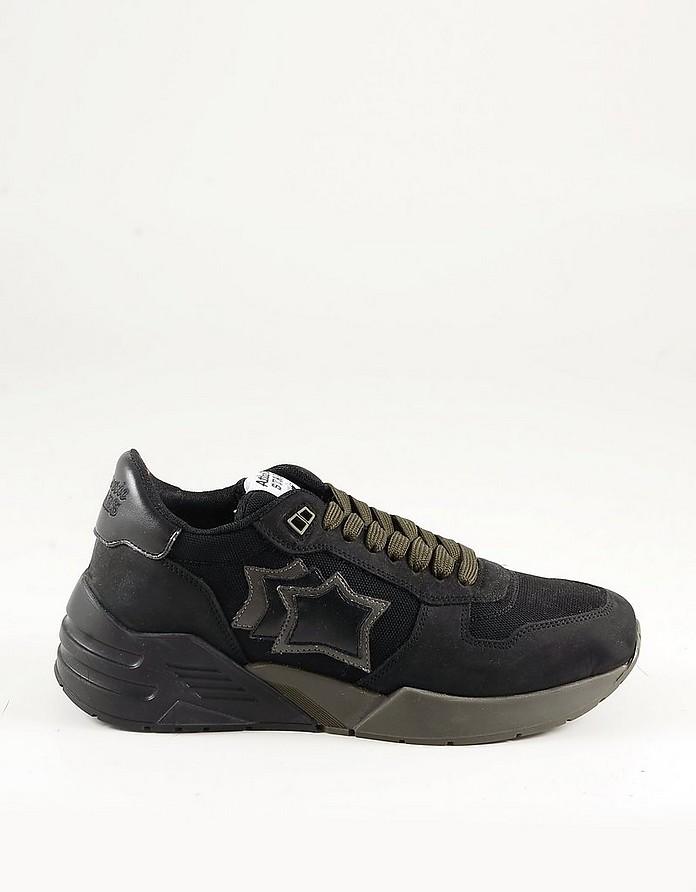 Black Suede and Nylon Men's Sneakers - Atlantic Stars