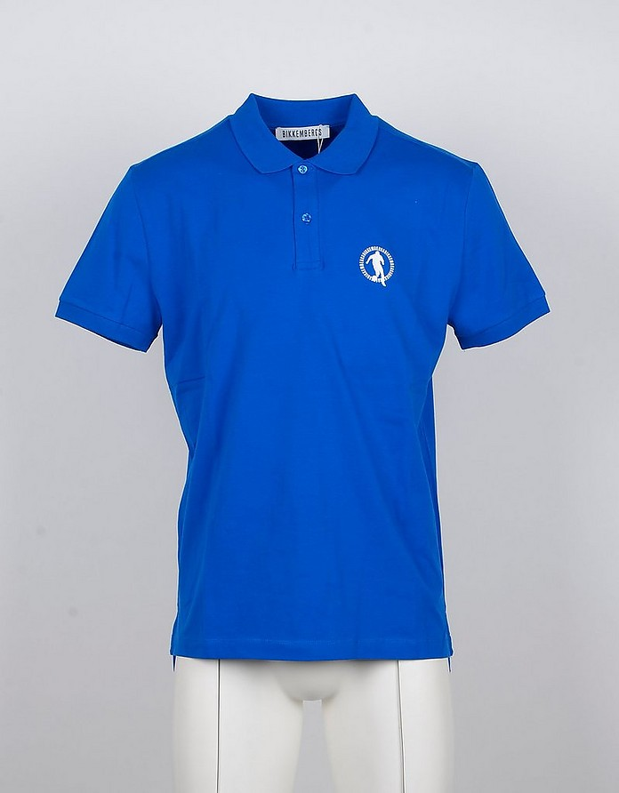 Bluette Cotton Men's Polo Shirt - Bikkembergs