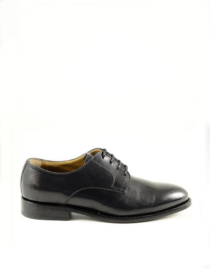 Black Leather Men's Derby Shoes - Neil Barrett