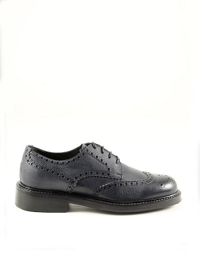 Blue Leather Men's Derby Shoes - Neil Barrett