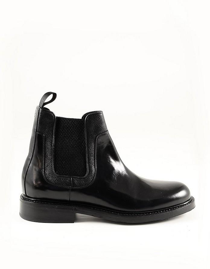 Black Leather Men's Bootie - Neil Barrett