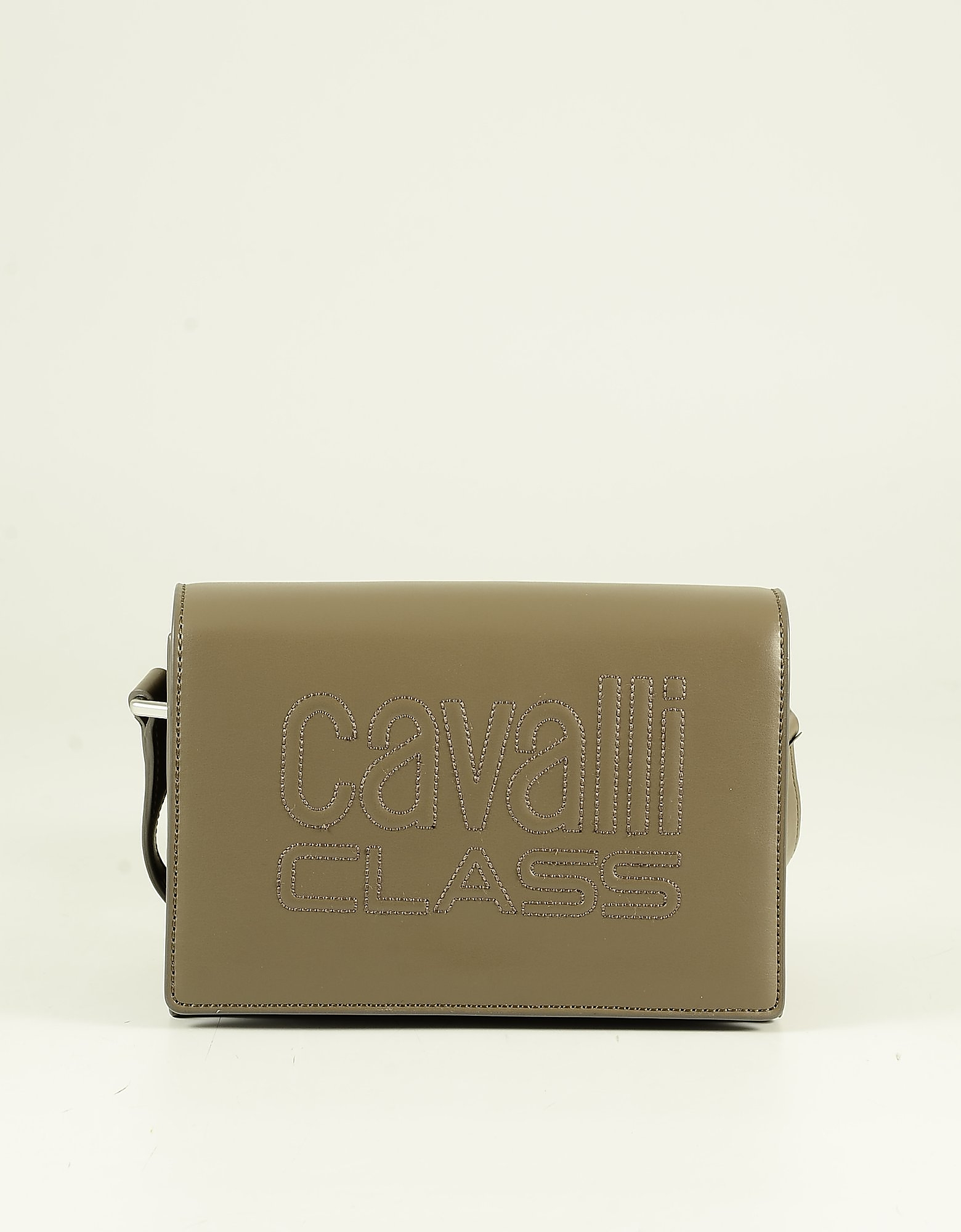 Class Roberto Cavalli Brown Eco Leather Signature Shoulder Bag