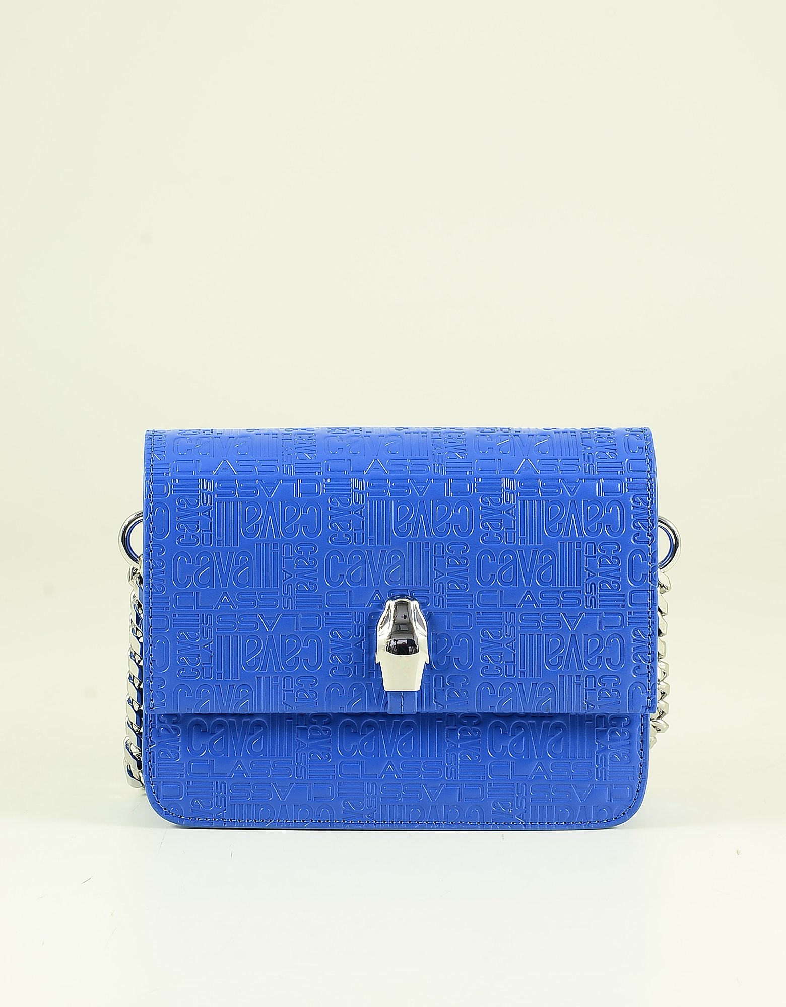 Class Roberto Cavalli BRIGHT BLUE SIGNATURE SHOULDER BAG