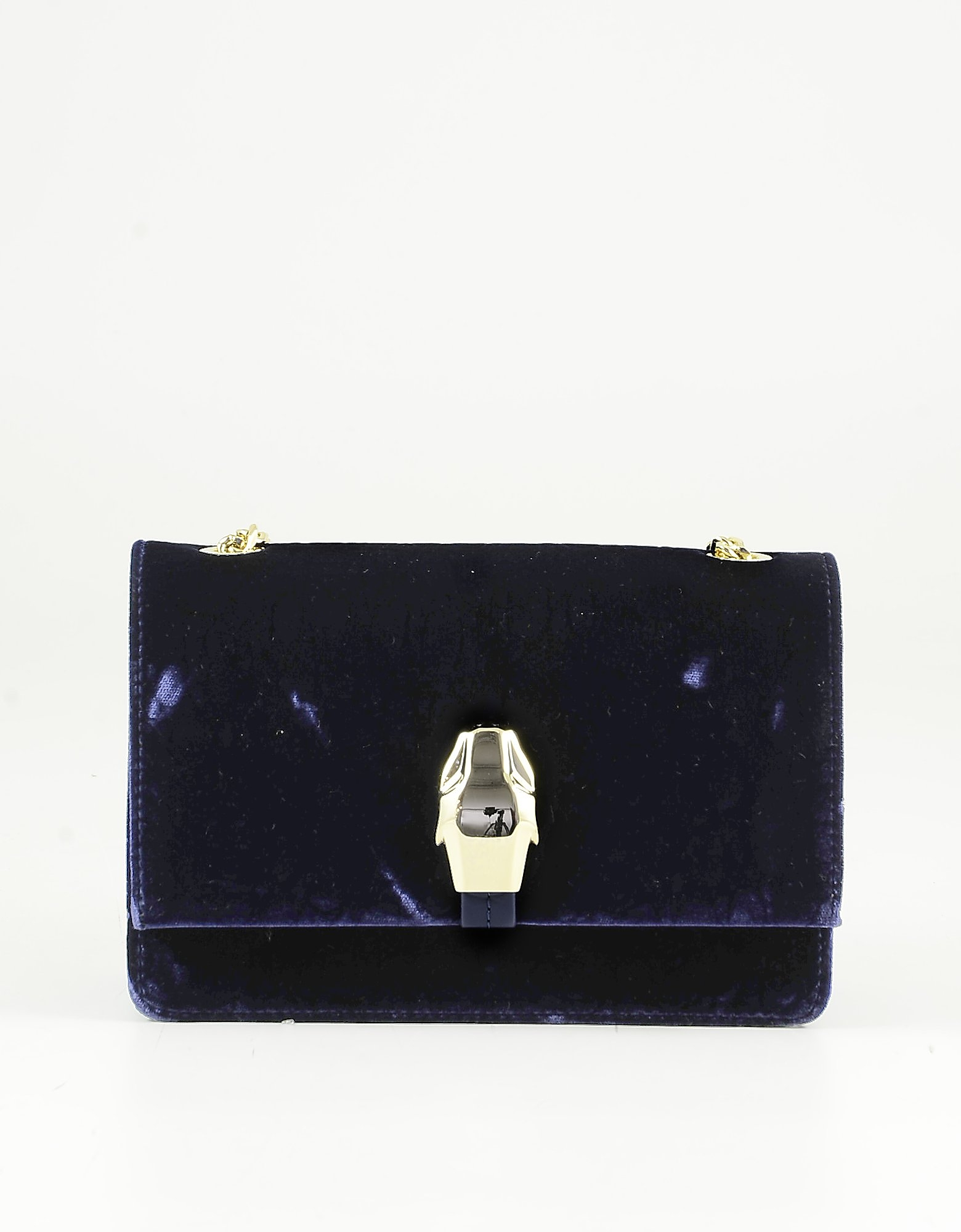 Class Roberto Cavalli Midnight Blue Eco-leather And Velver Shoulder Bag