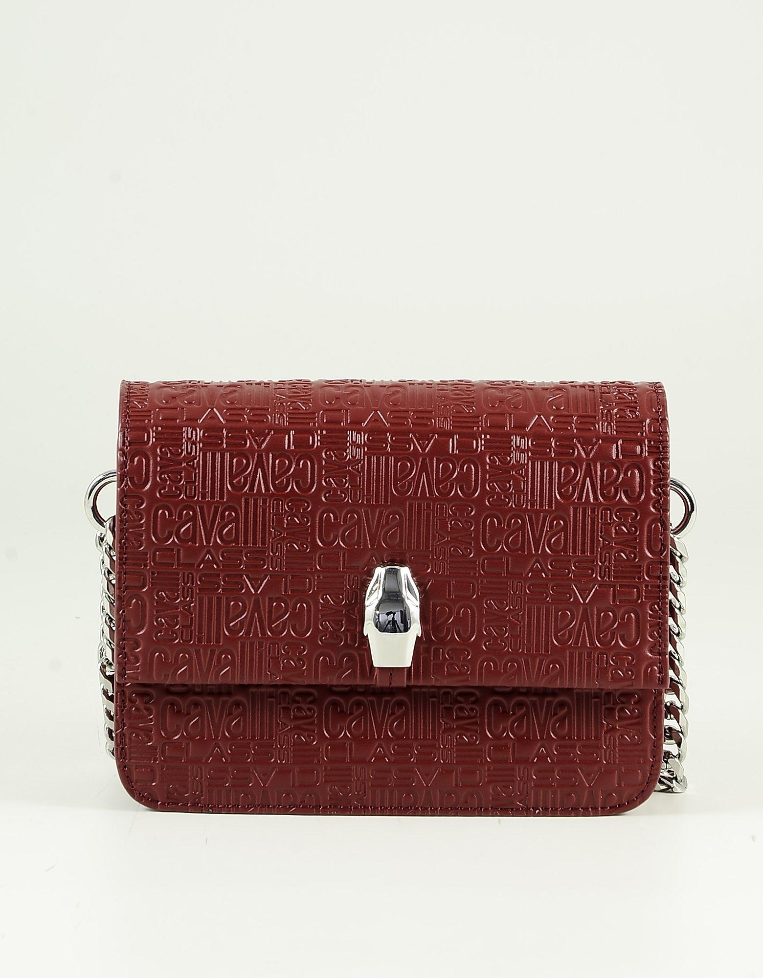 Class Roberto Cavalli Bordeaux Signature Sholder Bag