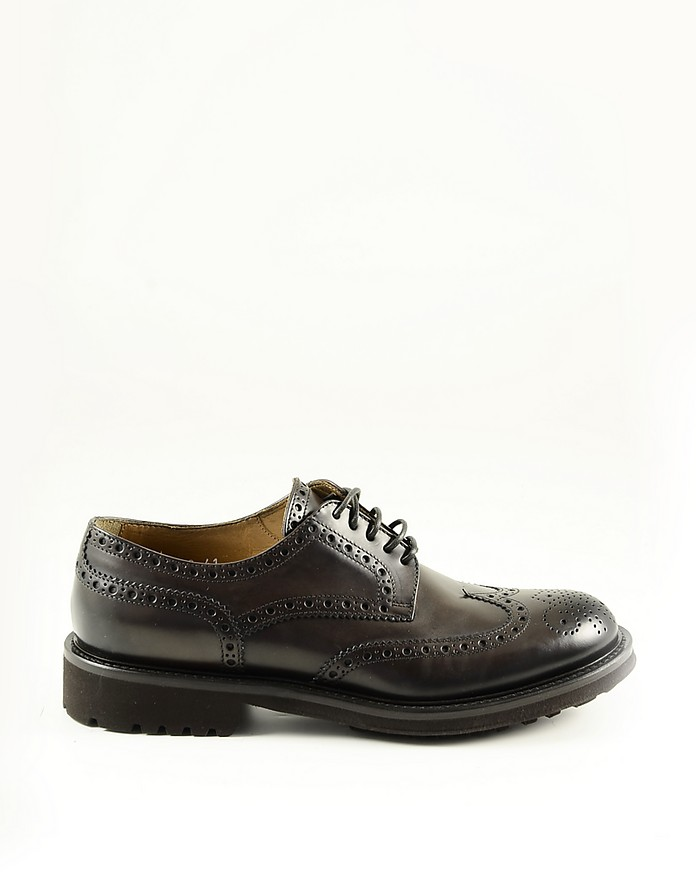 Brown Leather Men's Derby Shoes - Doucal's