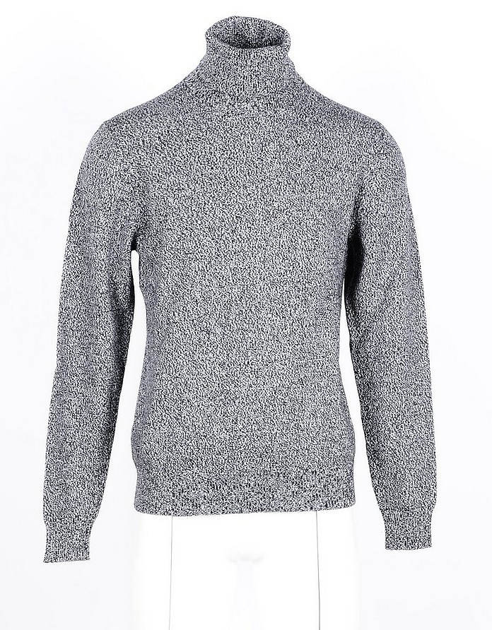 Gray Cashmere Men's Turtleneck Sweater - Dolce & Gabbana