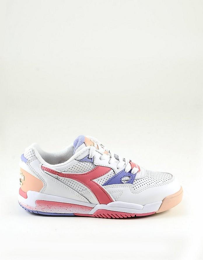 Women's White / Pink Shoes - Diadora