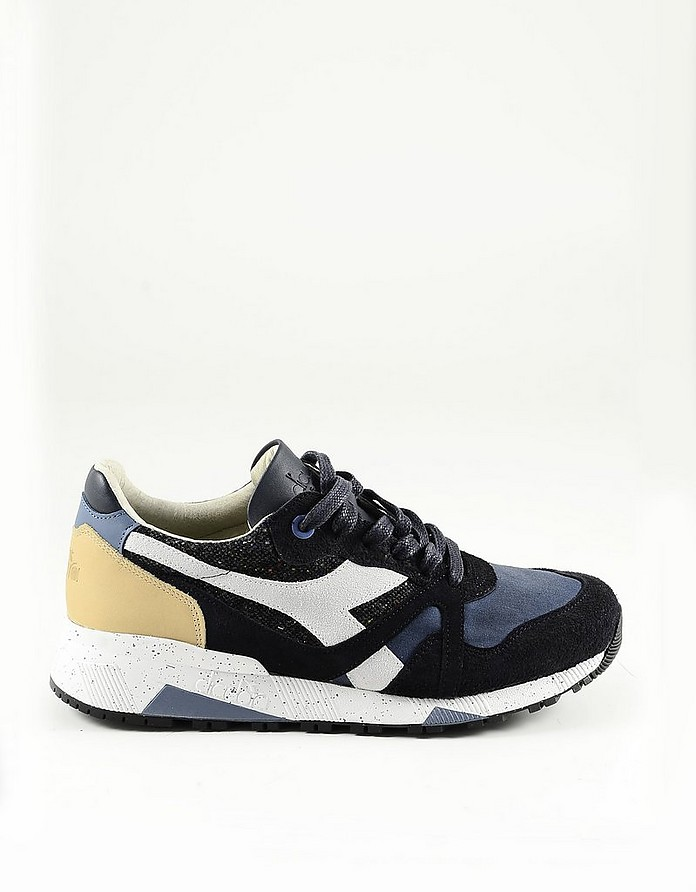 Blue Fabric and Suede Men's Sneakers - Diadora