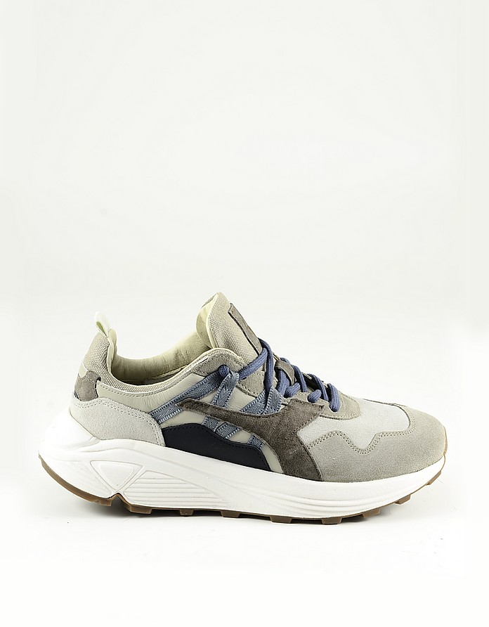 Beige Men's Sneakers w/Chunky Rubber Sole - Diadora