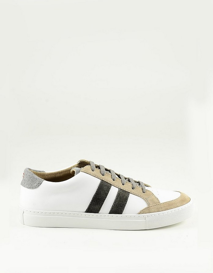 White / Brown Men's Sneakers - Eleventy