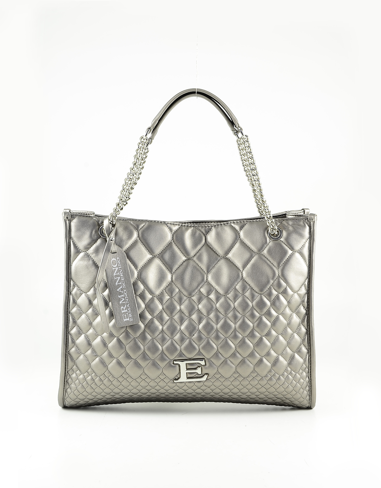 Ermanno Scervino Bronze Quilted Eco Leather Tote Bag