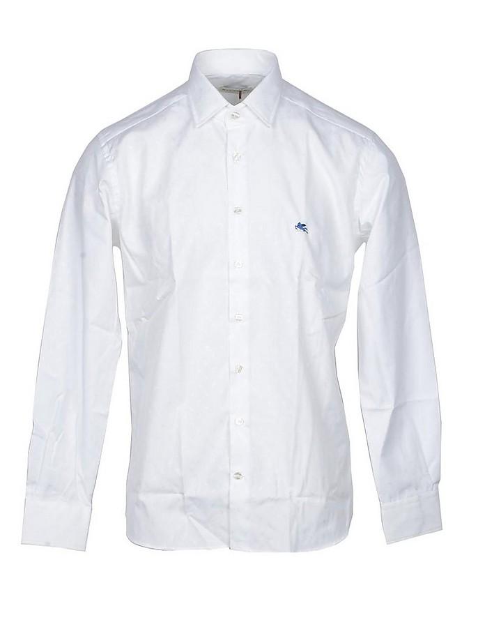 White Cotton Blend Men's Shirt - Etro