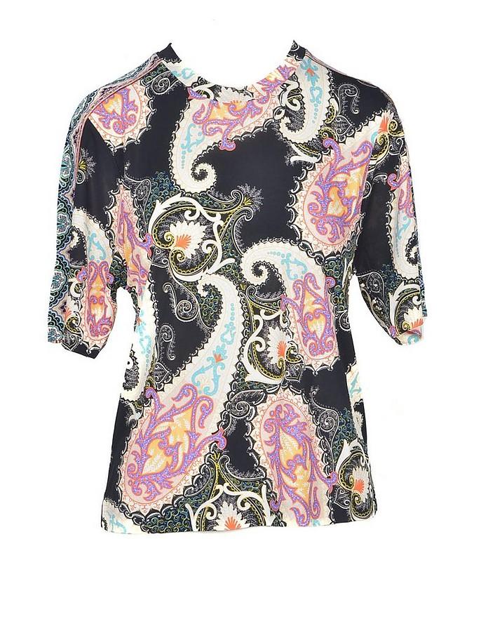 Women's Black / Beige Tshirt - Etro