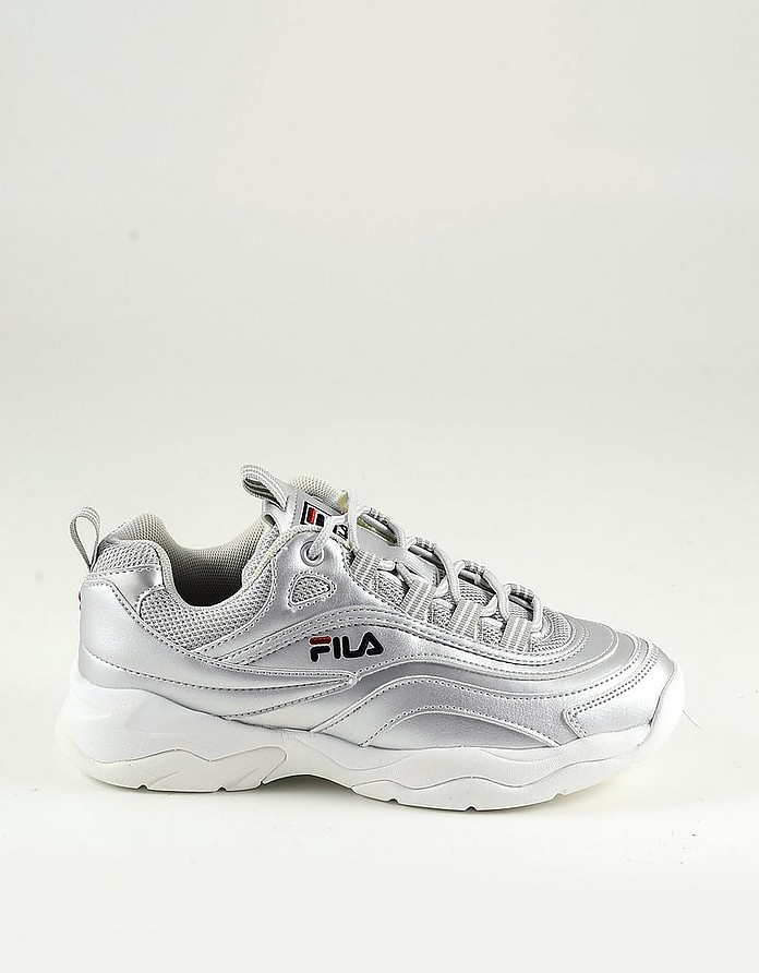 Silver Laminated leather Women's Sneakers - FILA