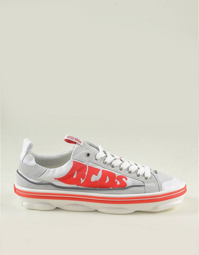 Men's White & Red Sneakers - GCDS