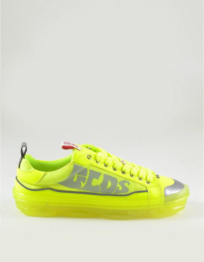 Men's Neon Yellow Sneakers - GCDS
