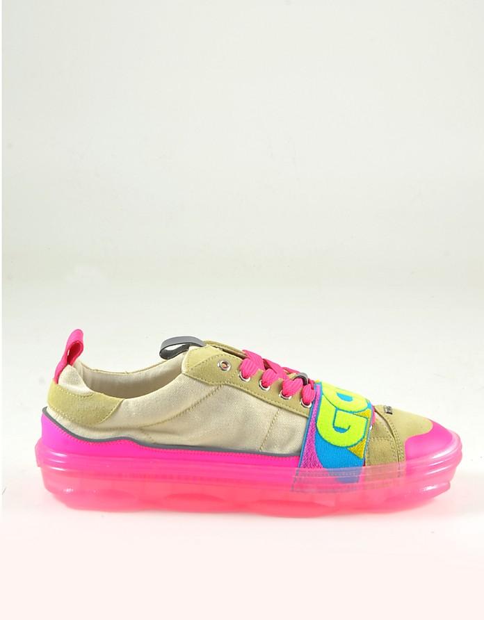 Men's Shocking Pink Sneakers - GCDS